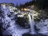 Winter Evening, Snoqualmie Falls