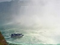 Maid Of The Mist Approaching The Canadian (horseshoe)niagara Falls