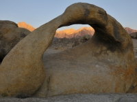 Mt Whitney At Sunrise Through Alabama Hills Arch