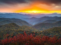 Blue Ridge Parkway Autumn Sunset - Rapture