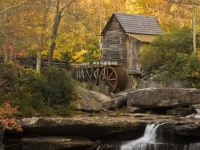 Babcock Grist Mill In Fall