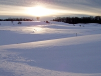 Snowdrift Sunset