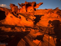 A Photographer's Shadow At Little Finland, Nevada