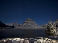 Stars Over Mount Grinnell And Swiftcurrent Lake