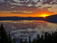 Sunrise Crater Lake