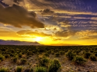 Sunset On The Owens Valley East Of The Sierra