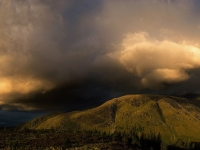 Evening Storm Cloud Formations Over Ben Nevis And Nevis Range