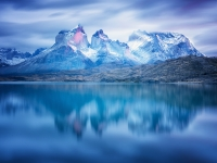 Dawn At Torres Del Paine National Park.
