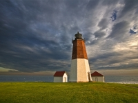 Rhode Island, Point Judith, Lighthouse, Sunset