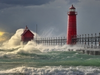 """the Storm""   Grand Haven Lighthouse"