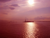 Statue Of Liberty, Backlit