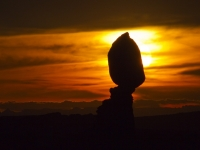 Balanced Rock At Dusk Light