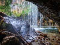 Behind The Hanging Lake Waterfall