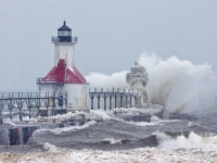 Winter Storm On The Great Lakes