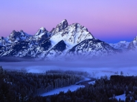 Winter Pre-dawn In The Tetons
