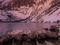 Convict Lake Moonset Reflection