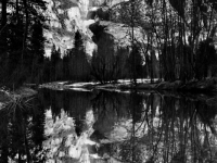 Yosemite Falls Reflection - Merced River