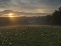 Sunrise Over A Misty Morning At Kendall Ledges - Cuyahoga Valley National Park