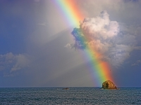 Rainbow On Bird Rock