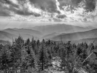 Clingmans Dome In Smoky Mountains National Park