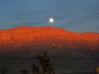 Moon Rise At Grand Canyon West