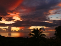 Fiery Tobago Sunset