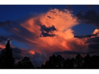 Thundercloud At Sunset