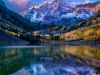 Light Snow On The Maroon Bells