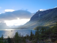 Wild Goose Island On Lake Mary At Glacier National Park