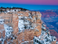 Moonset Over Mather Point