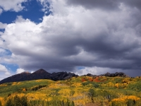 Fall Colors With Storm Clouds