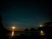 Heceta Moonset