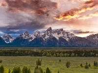 Sunset At Grand Tetons