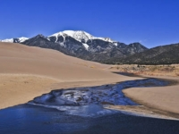 Medano Creek, Great Sand Dunes, & Mt. Herard