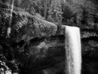 South Falls At Sunrise In B&w