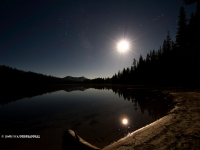 Moon Over Tenaya Lake