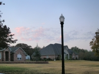 Lamp Pole And House