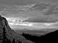 Pike's Peak Road Vista - B&w