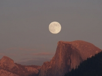 Half Dome Moonrise