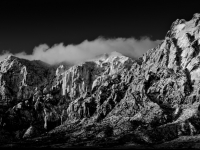 Sunrise On Red Rock Canyon In Black And White