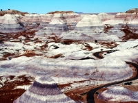 Long And Winding Road-painted Desert