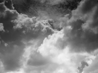 Clouds In Living Black And White