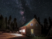 Night Sky & Cabin Lights