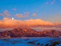 Blue Moon Over Flatirons