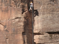 Climber At Zion National Park