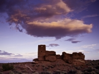 Sunset Clouds Over Wukoki Pueblo Arizona