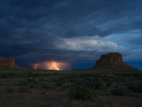 Fajada Butte And Thinderstorm.