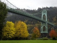 St. John's Bridge In Autumn