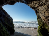 Sea Cave At Half-moon Bay