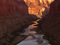 Looking Down The Colorado River At Sunrise From Nankoweap